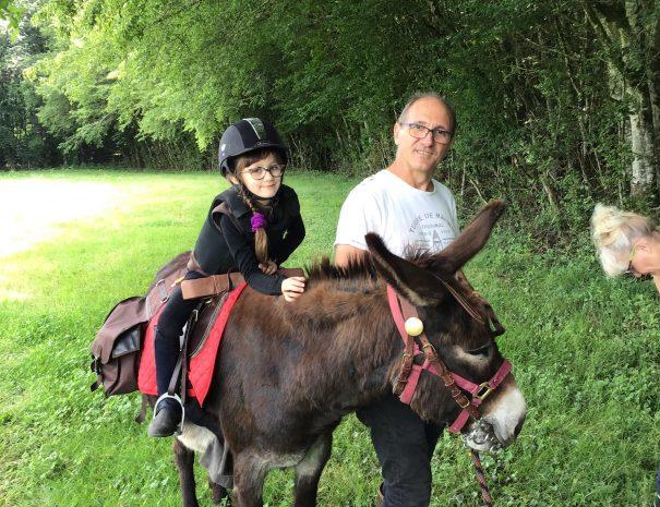 Balade âne Nièvre